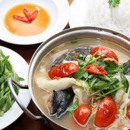 Cách Nấu Lẩu Cá Lăng Nấu Măng Chua