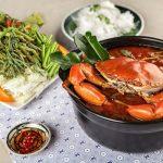 Lẩu cua biển măng chua