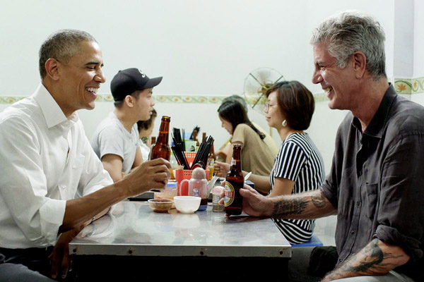 Anthony Bourdain và Obama