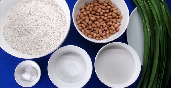 Nguyên liệu nấu xôi đậu phộng