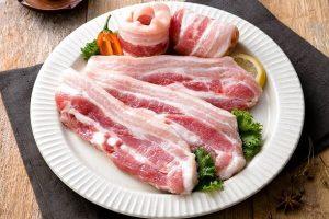 Thịt ba chỉ ngon có màu sắc tươi