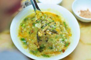 Món cháo lươn đậu xanh